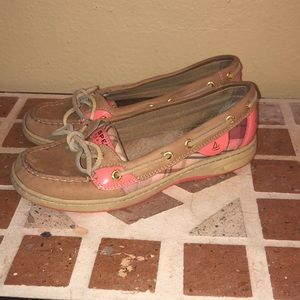 Pink plaid Sperry Top sider